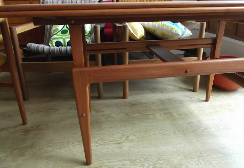 Danish Convertible Coffee Table Dining Table Red Rider