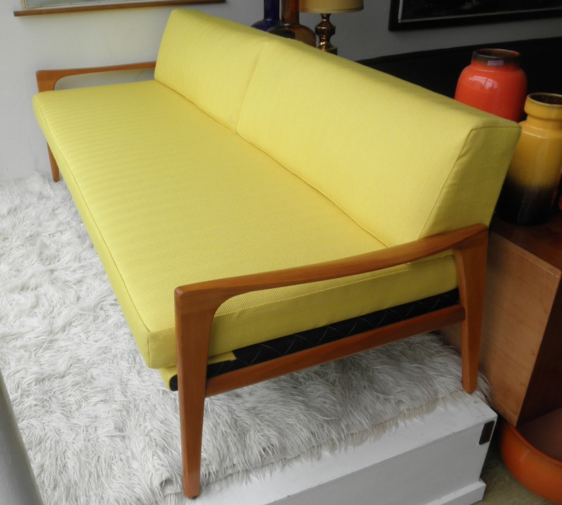 Fler Norsk Divan Daybed By Fred Lowen Restored Red Rider
