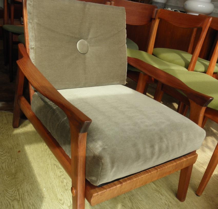 Danish Deluxe Inga Arm Chairs Circa 1962 Red Rider