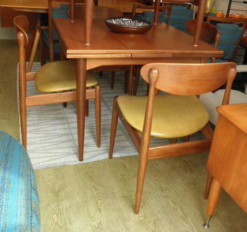 Parker Spadeback 107 Dining Suite Circa Early 1960s Red