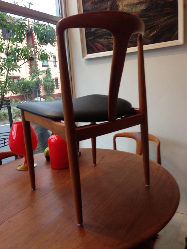 6 Johannes Andersen Juliane Chairs In Teak Denmark Circa