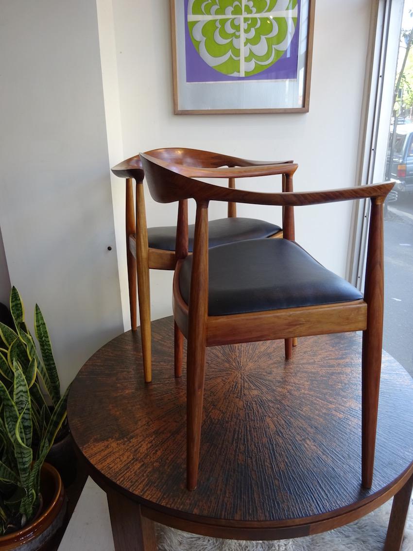 Pair Of Danish Deluxe Hans Wegner The Chair In Blackwood