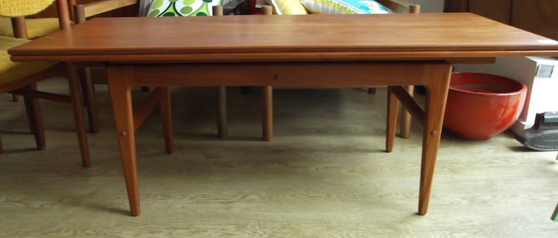 Danish Convertible Coffee Tabledining Table Red Rider