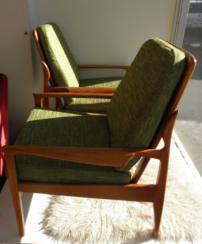 Fler Narvik Armchairs By Fred Lowen Circa Mid 1960s Red